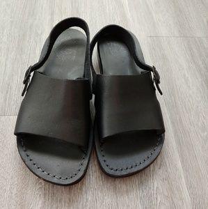 Jerusalem Sandals size 38 in Black Leather